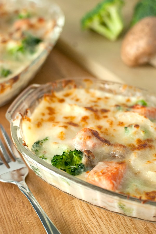 Salmon Gratin- a healthy and nutritious weeknight dinner!