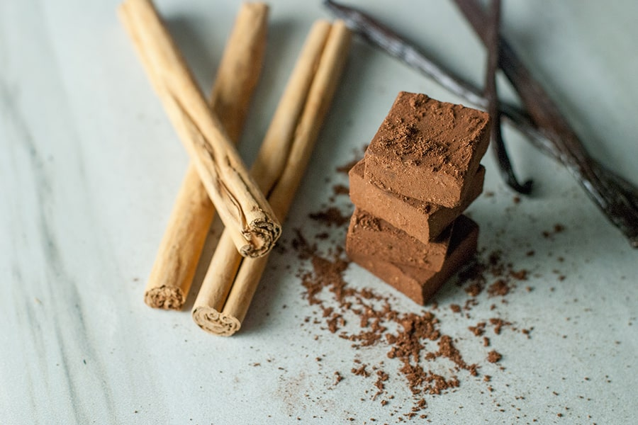 Cinnamon Chocolate Truffles- inspired by Japanese nama chocolates, a few simple ingredients come together to make a truly spectacular confection.