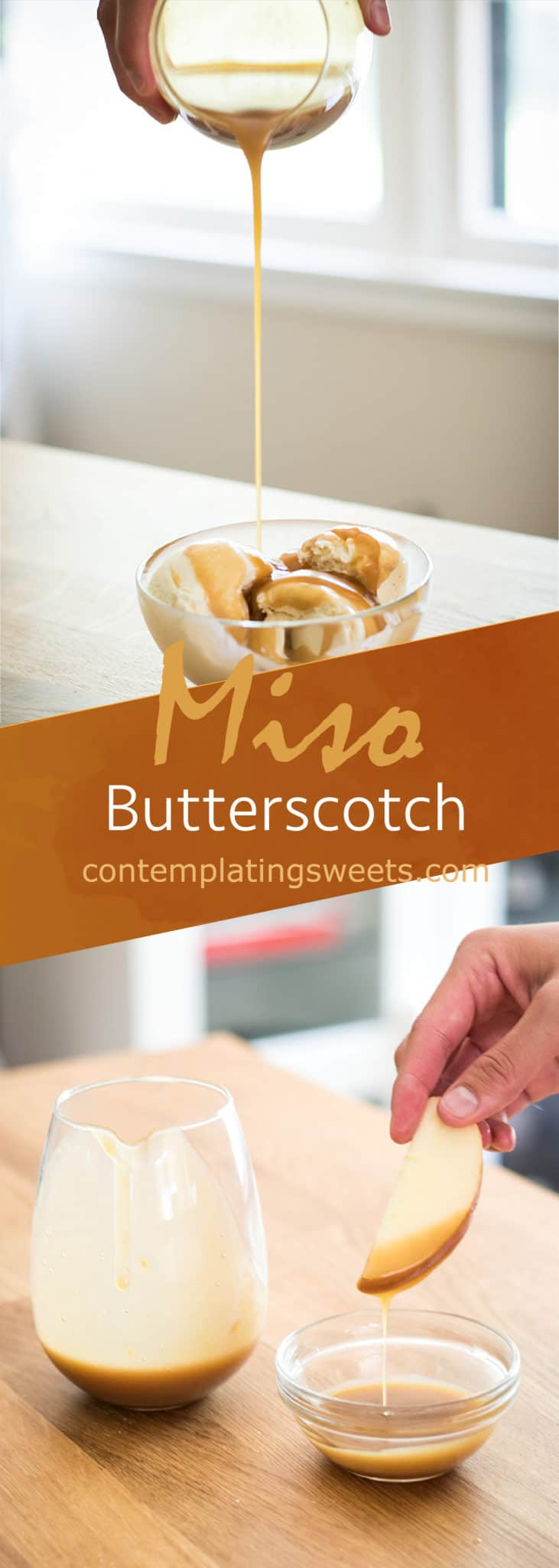 Miso butterscotch: Sweet and salty butterscotch gets a hit of umami from miso! This misobutterscotch will be your new favorite fusion dessert.