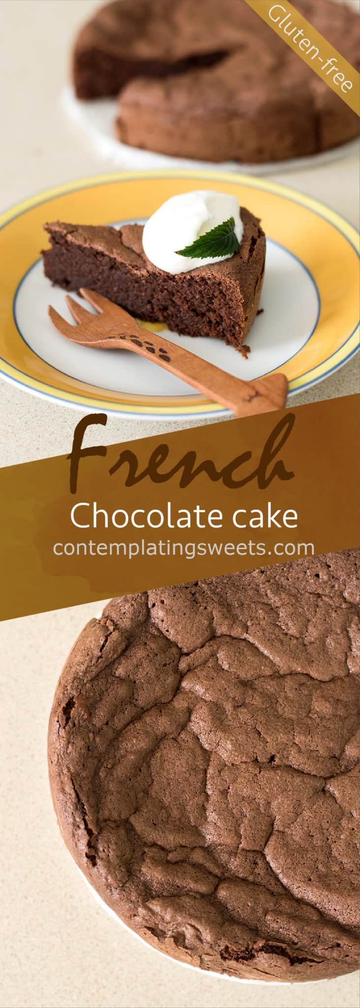 Gateau au chocolat, or ガトーショコラ in Japan, is a simple but popular French chocolate cake. This version uses almond flour, making it a gluten and grain free treat.