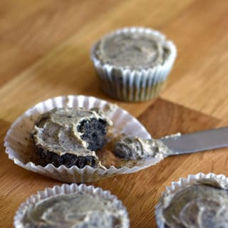 Black sesame cupcakes with peanut butter frosting: These lightly sweet black sesame cupcakes are full of toasty sesame flavor, and pair perfectly with the peanut butter sesame frosting.