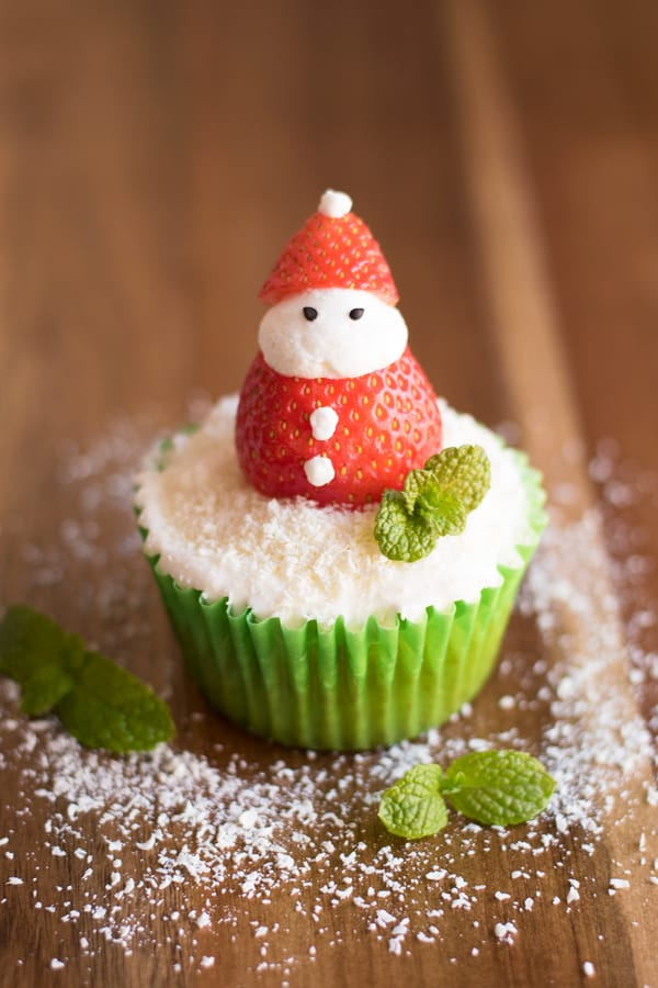 Santa Cupcakes Contemplating Sweets